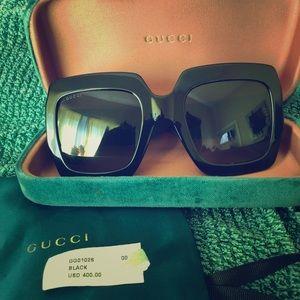 54mm GG Sunglasses Black Web Glitter w/GUCCI case